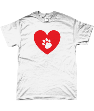 Heart Paw T-Shirt in White