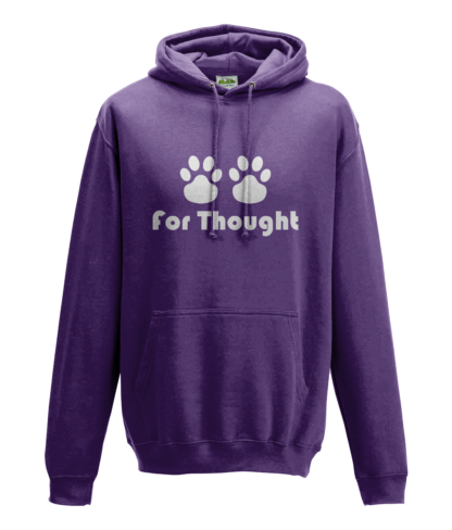 Paws for Thought Hoodie in Purple