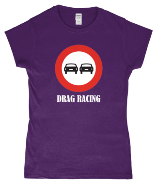 Drag Racing T-Shirt in Purple