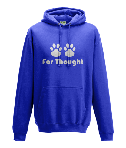 Paws for Thought Hoodie in Blue