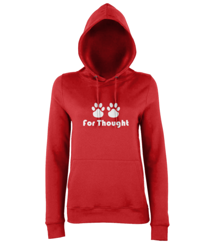 Paws for Thought Hoodie in Red