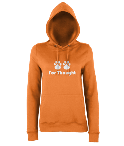 Paws for Thought Hoodie in Orange