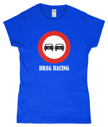 Drag Racing T-Shirt in Blue