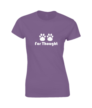 Paws for Thought T-Shirt in Purple