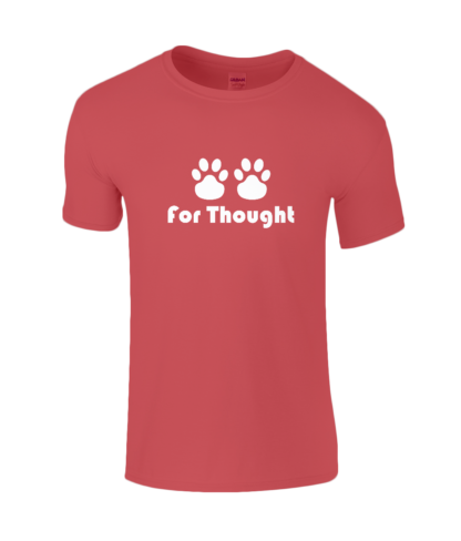 Paws for Thought T-Shirt in Red