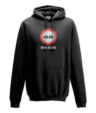 Drag Racing Hoodie in Black