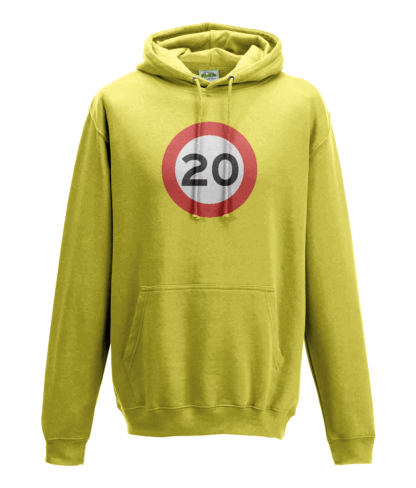 20mph Hoodie in Yellow