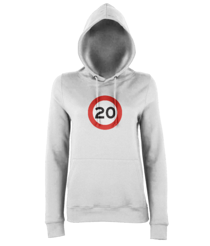 20mph Hoodie in White