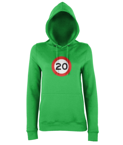 20mph Hoodie in Green