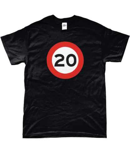 20mph T-Shirt in Black