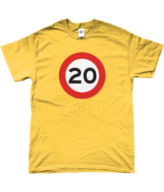20mph T-Shirt in Yellow