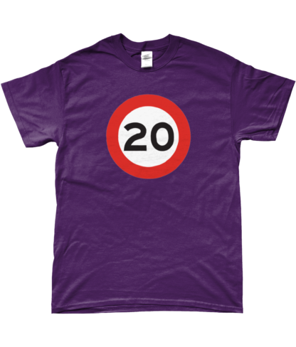 20mph T-Shirt in Purple