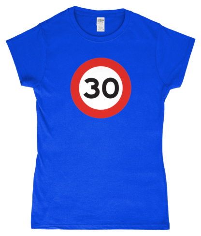30mph T-Shirt in Blue