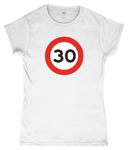 30mph T-Shirt in White