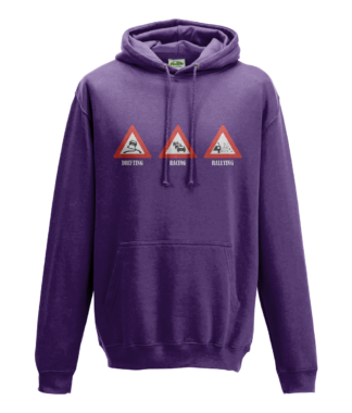 Drifting Racing Rallying Hoodie in Purple