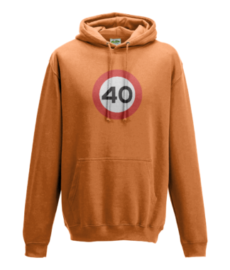 40mph Hoodie in Orange