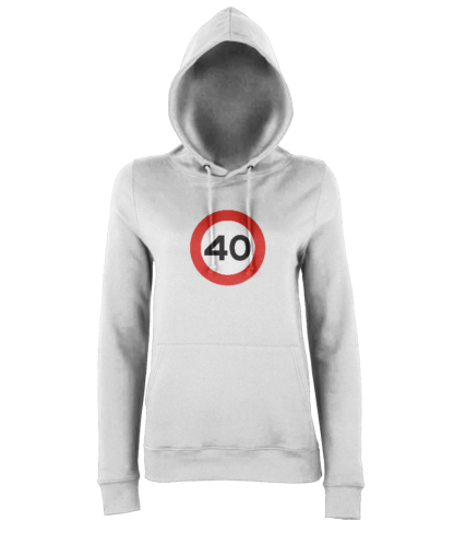 40mph Hoodie in White