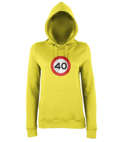40mph Hoodie in Yellow