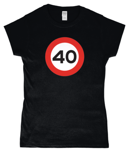 40mph T-Shirt in Black