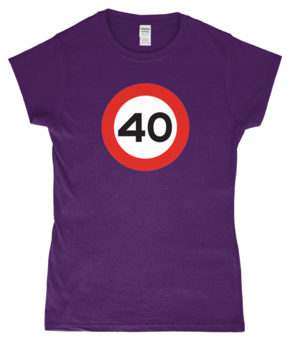 40mph T-Shirt in Purple