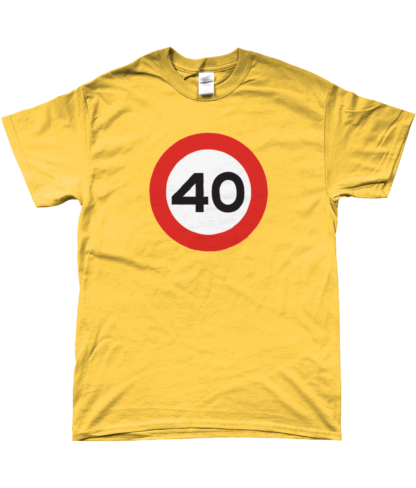 40mph T-Shirt in Yellow