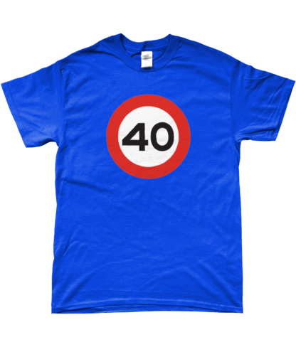 40mph T-Shirt in Blue