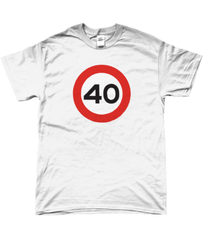 40mph T-Shirt in White