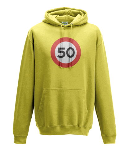 50mph Hoodie in Yellow