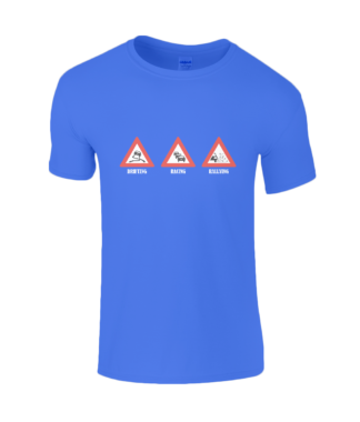 Drifting Racing Rallying T-Shirt in Blue