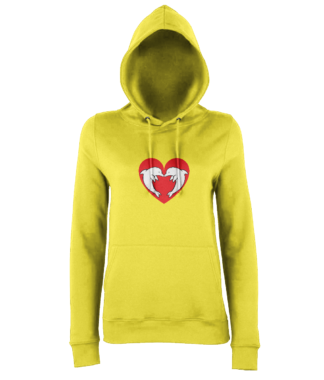 Heart Dolphin Hoodie in Yellow