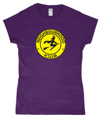 Neighbourhood Witch T-Shirt in Purple
