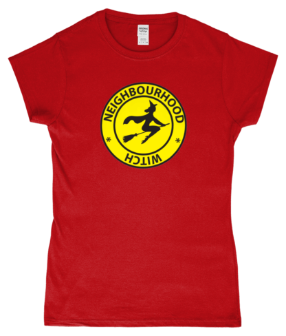 Neighbourhood Witch T-Shirt in Red