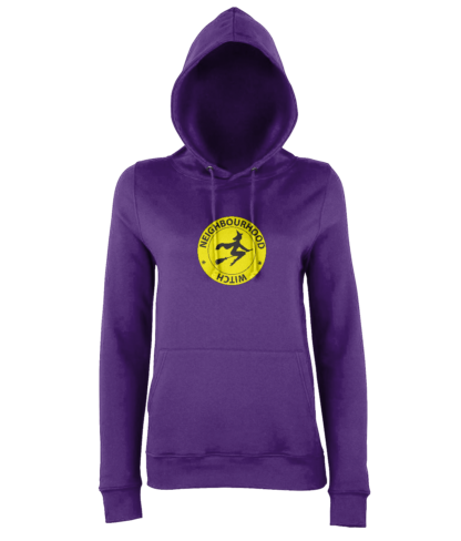 Neighbourhood Witch Hoodie in Purple