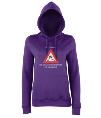Burnout Hoodie in Purple