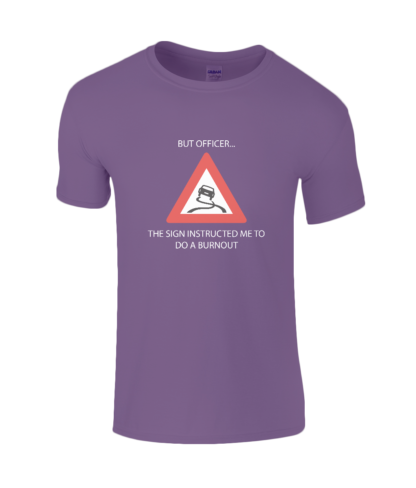 Burnout T-Shirt in Purple