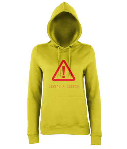 Life's A Glitch Hoodie in Yellow