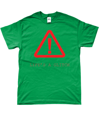 Life's A Glitch T-Shirt in Green