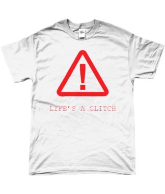 Life's A Glitch T-Shirt in White