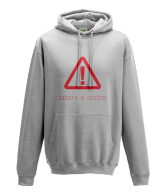 Life's A Glitch Hoodie in White
