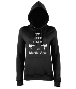 front-7.Keep Calm Martial Arts Hoodie in Black