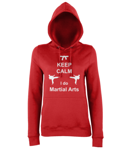 Keep Calm Martial Arts Hoodie in Red