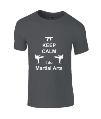 Keep Calm Martial Arts T-Shirt in Black