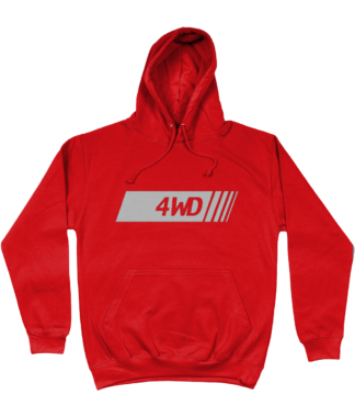 4WD Hoodie in Red
