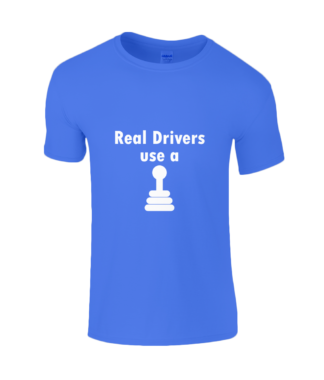 Real Drivers T-Shirt in Blue
