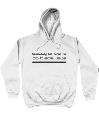 Rally Driver Sideways Hoodie in White