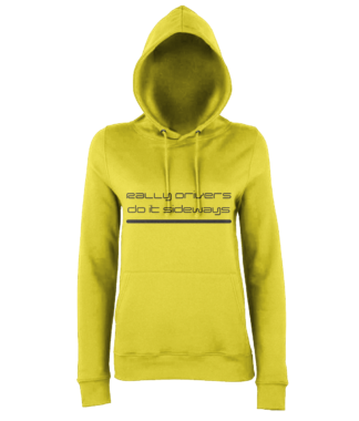 Rally Driver Sideways Hoodie in Yellow
