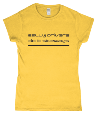 Rally Driver Sideways T-Shirt in Yellow