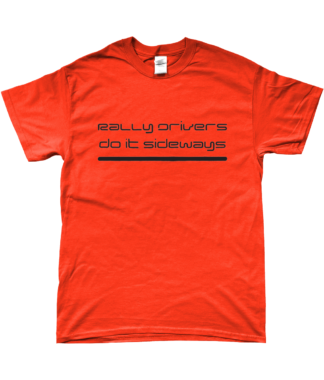 Rally Driver Sideways T-Shirt in Orange