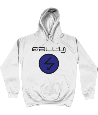 Rally Radio Hoodie in White