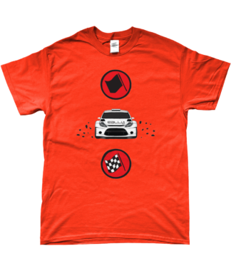 Start Rally Finish T-Shirt in Orange